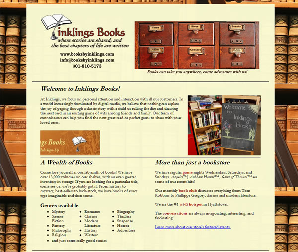 Books By Inklings Initial Website Design & Launch