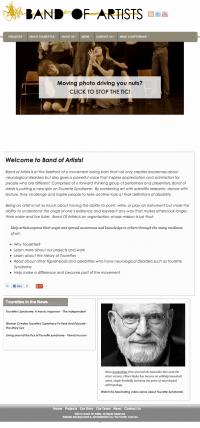 BandOfArtists.org Responsive Design: Tablet Friendly Layout