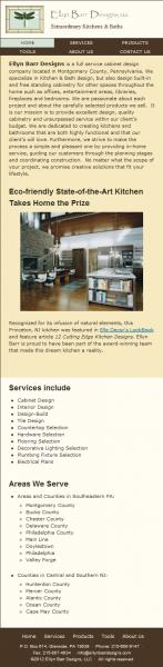 EllynBarrDesigns.com Omega Theme- Mobile Layout