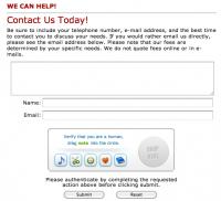 Creative Educational Options Contact Form: Captcha Alternative Human Verification Form Tool- Ubokia's creative alternative to hard-to-read Captchas
